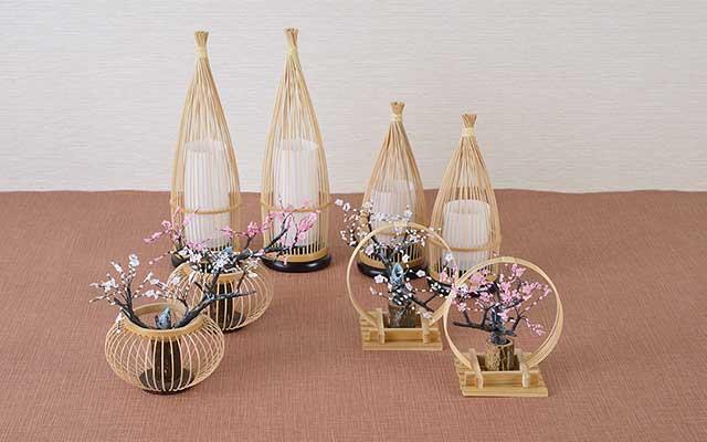 江戸時代より続く伝統工芸品「駿河竹千筋細工」本格的な雛飾りにピッタリ